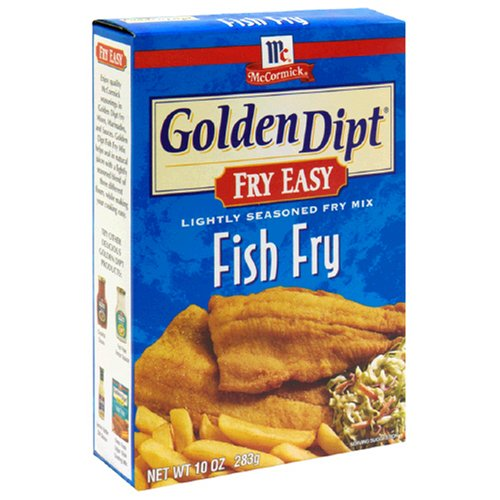 Golden Dipt Fish Fry Mix, 10-Ounce Boxes (Pack of 12)