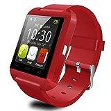 (ヨルコ)Yoluke Bluetooth smart watch U8 スマートウォッチ for iPhone 4/4S/5/5C/5S Android Samsung S2/S3/S4/Note 2/Note 3 HTC Sony  Blackberry (レッド)