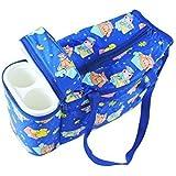N&M Multi Purpose Baby Diaper Mother Bag With 2 Bottle Holders - Keep Baby Bottles Warm (Dark Blue)