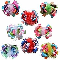 LclhbTM Baby Children Toddlers Grosgrain Hair Bowsalliger Clip Accessories Hw001 (HW001008)