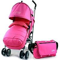 ZETA VOOOM - RASPBERRY + MC Footmuff + Bag & Raincover Stroller Pushchair Buggy suitable from birth by Baby TravelTM
