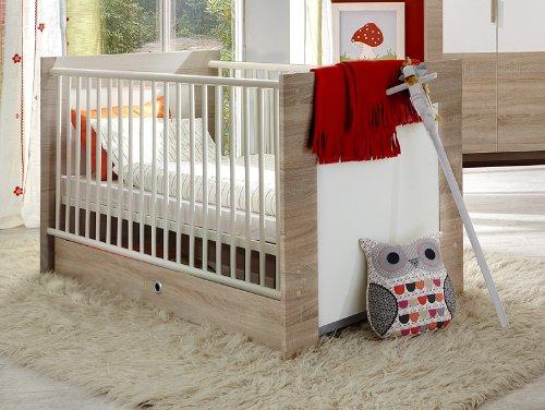 Babybett 2-tlg »ELLA« Eiche sägerau – alpinweiß