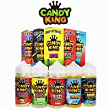 Candy King Liquids by Dripmore - Juice 100ML - One Bottle - 0mg Only! (Peachy Rings)