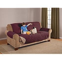 Pegasus Home Reversible Furniture Protector, Sofa, Wine/Mocha