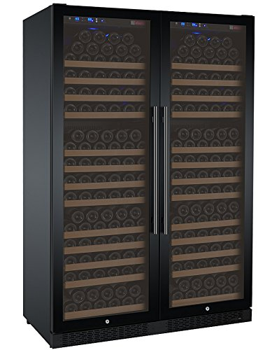 Review Allavino FlexCount Series 354 Bottle Built-In Wine Cooler Refrigerator Black Glass Door Dual ...