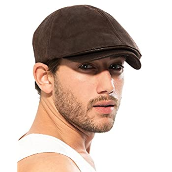 ililily Flat Cap Vintage Cabbie Hat Gatsby Ivy Cap Irish Hunting Newsboy Stretch