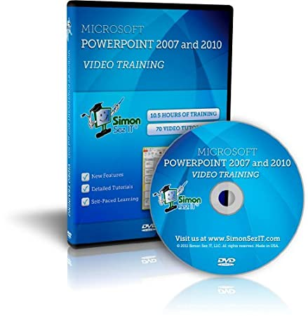 Learn Microsoft PowerPoint 2007 and 2010 Software Training Course - Self-Paced Learning on DVD by Simon Sez IT
