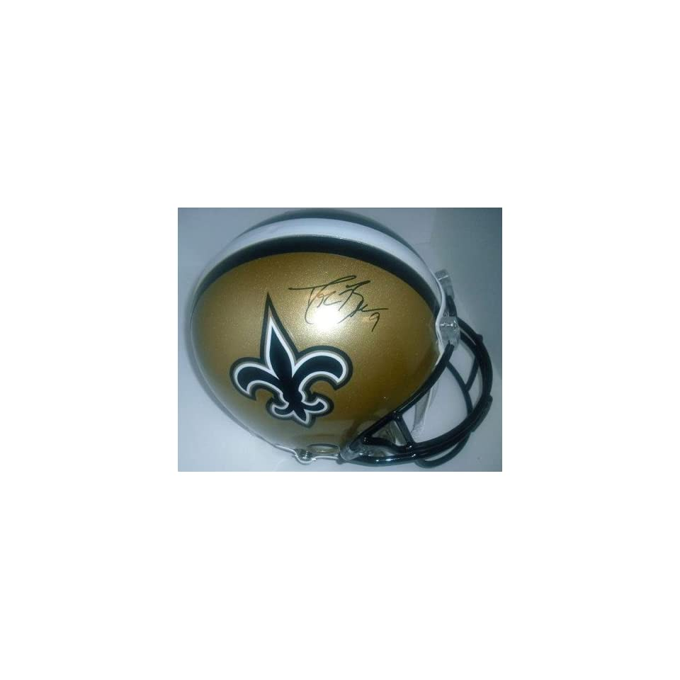 New Orleans Saints Drew Brees Hand Signed Autographed Football Helmet