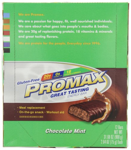 Promax Nutrition, Chocolate Mint, 2.64 Oz. Bars, 12 Count