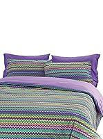Gipetex Juego De Edredón (Morado/Multicolor)