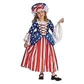 ベッツィロス 衣装、コスチューム ドレス DLX 子供女性用 アメリカ 星条旗 サイズS