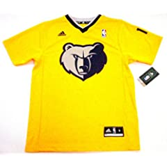 Mike Conley Memphis Grizzlies #11 NBA Youth Short Sleeve Jersey Yellow by adidas