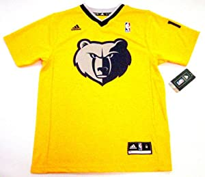 Mike Conley Memphis Grizzlies #11 NBA Youth Short Sleeve Jersey Yellow (Youth Medium 10/12)