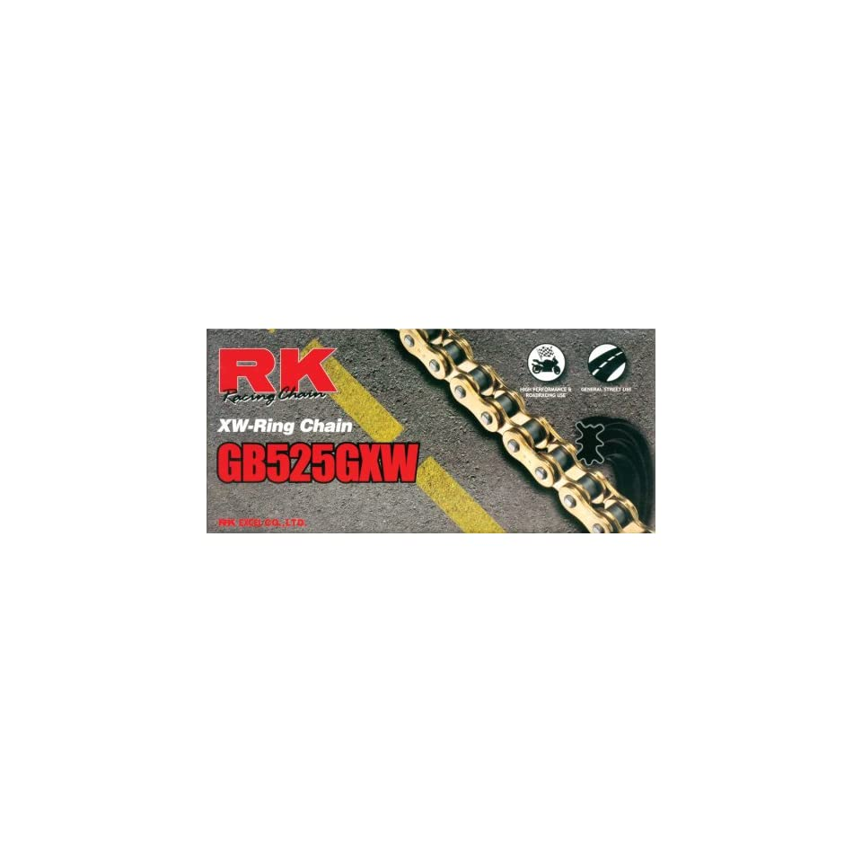 RK Racing Chain GB520GXW-110 Gold 110-Links XW-Ring Chain with Connecting Link