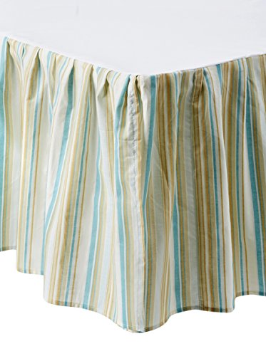 Natural Shells Striped Dust Ruffle, Blue Multi, Queen (Natural Shells Bedding compare prices)