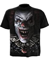 Spiral T-shirt pour homme Motif Circus Of Terror Noir