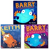 Sue Hendra Sue Hendra Collection 3 Books Set, (Keith the cat with the magic hat, Barry and the hairy scary monster and Barry the fish with fingers)