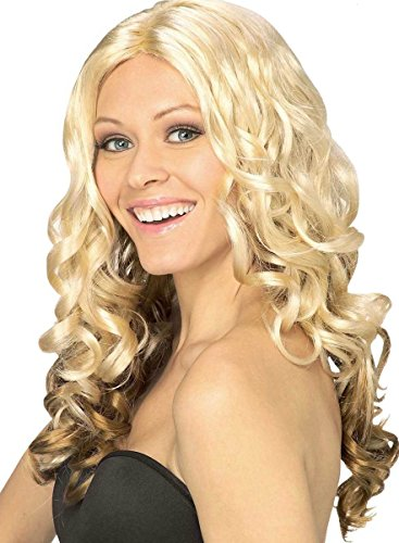 Long Curly Reverse Ombre Blonde to Light Brown Synthetic Costume Wig