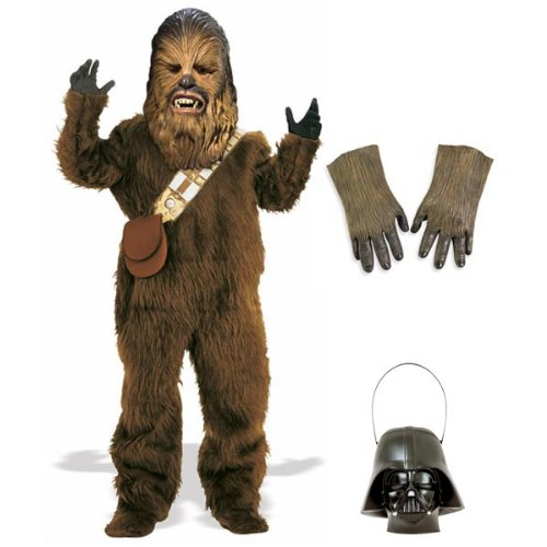 Complete Deluxe Chewbacca Adult Costume with Accessories - Size Standard