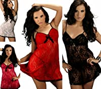 Ninex Lace Babydoll, Nightwear, S-8XL 10 - 28 UK