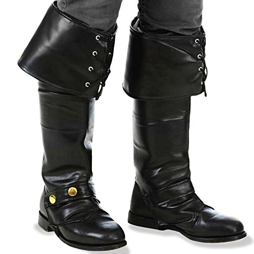 Kangaroo's Deluxe Black Pirate Vinyl Boot Tops