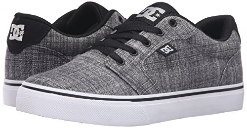 DC Men's Anvil TX SE Skateboarding Shoe, Grey Heather, 13 M US