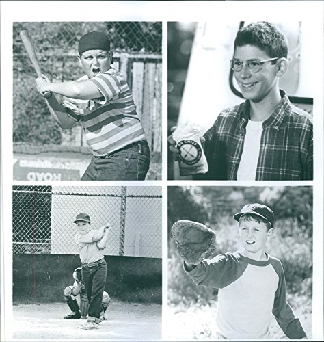 vintage-photo-of-scenes-from-the-film-the-sandlot-with-patrick-renna-grant-gelt-victor-dimattia-and-