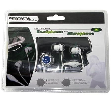 PSP Headset Kit for Skype WHITE (In-ear Earphone)