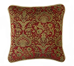 Clarence Burgundy Cushion Cover 45x45cm (18inch)