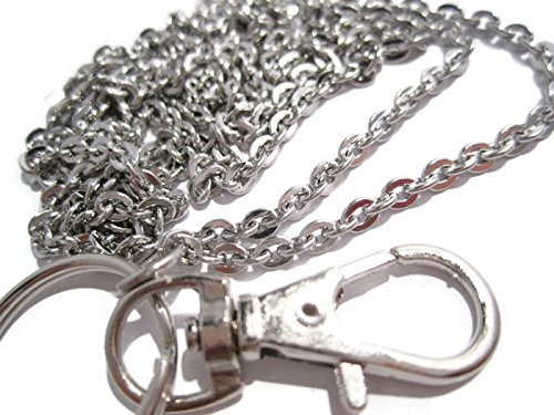 Flat Ovals Chain Badge Holder- Stainless Steel Strong Chain Lanyard (Steel Lanyard compare prices)