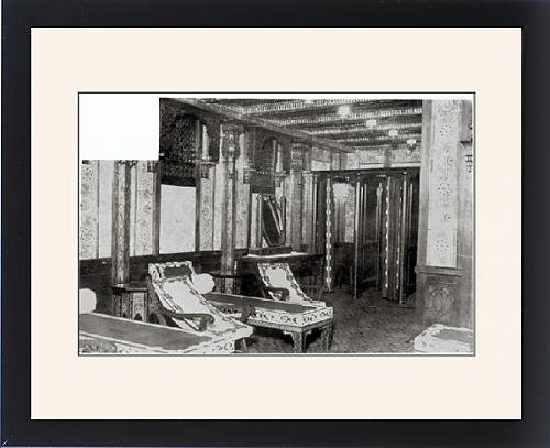 Framed Print of The Turkish Bath Cooling Room on board the Titanic