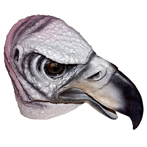 Buzzard Vulture Creepy Bird Full Overhead Face Mask