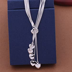 mcitymall classic design multiple heart drop pendants with