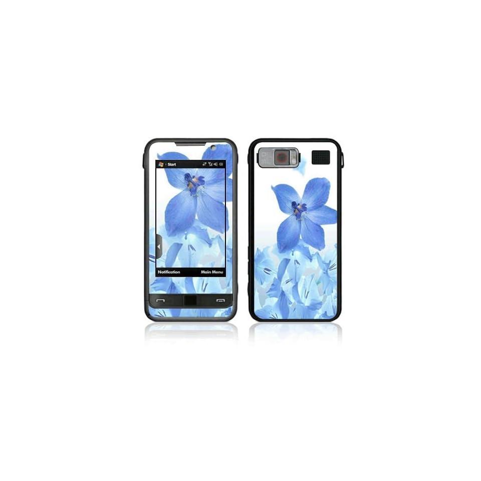 Blue Neon Flower Decorative Skin Cover Decal Sticker for Samsung Omnia SCH i910 (Verizon) Cell Phone