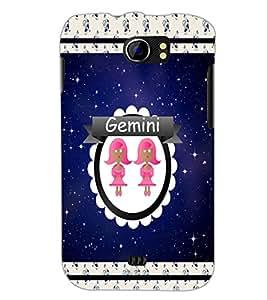 PrintDhaba Zodiac Gemini D-2760 Back Case Cover for MICROMAX A110Q CANVAS 2 PLUS (Multi-Coloured)