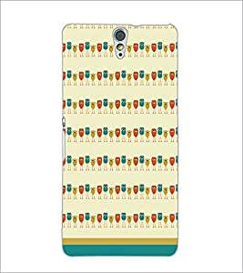 PrintDhaba Owl Pattern D-1702 Back Case Cover for SONY XPERIA C5 ULTRA (Multi-Coloured)
