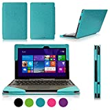 FYY? Fully Armed Leather Case for ASUS Transformer Book T100 Cyan