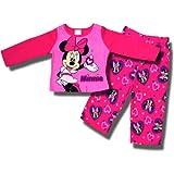 """Minnie Mouse """"Pretty Minnie"""" 2 piece fleece pajama set for Toddler Girls"""