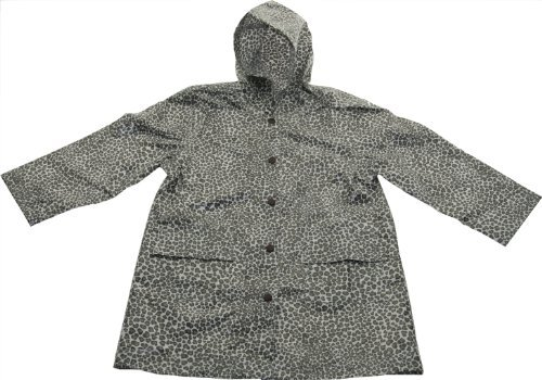 Pluie Pluie Leopard Print Girls Unlined Raincoat