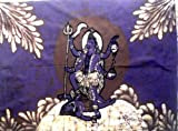 Indian Goddess Kali Batik Painting Tapestry Cotton Fabric Wall Hanging 30