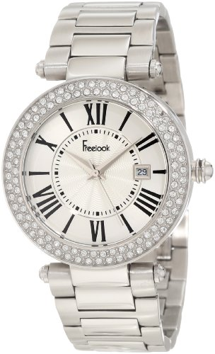 Freelook Donna HA1538M-4 All Silver Shiny Dial Swarovski Bezel Orologio