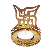 Odishabazaar Shadow Swastik Tea Light Candle Holder For Home Decor