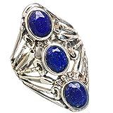 Lapis Lazuli, Lapis-Lazuli Argent Sterling 925 Bague 8