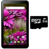 I KALL N6 (512+8GB) Dual Sim 3G Calling Tablet With 8GB Memory Card- Black