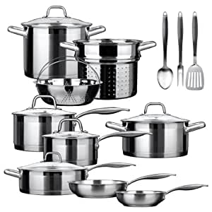 Duxtop Professional Stainless-steel 17-piece Induction Ready Cookware