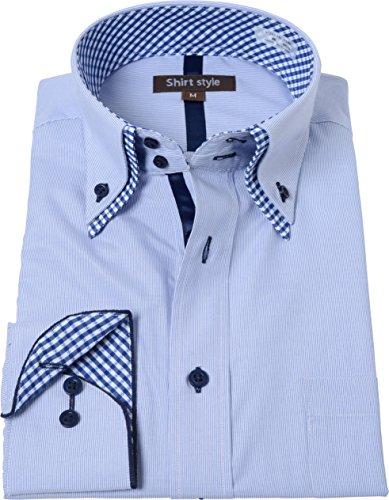 シャツスタイル(shirt style)ysh-3009/クレリック ワイシャツ 半袖 ダブルカラー メンズ ビジネス ボタ