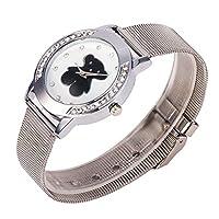 Mujeres Marca Reloj Tous señora de la manera de la trenza de la correa de malla rejilla Relojes de plata barato marca Sunyatta