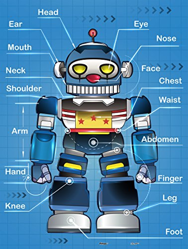 Pintoo - T1010 - Showpiece Junior - Robot's body - 48 Piece Plastic Puzzle - 1