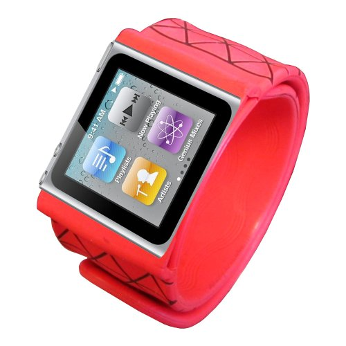 Gsi Quality Silicon Wrist Slap Band For Apple Ipod Nano 6Th Gen. - Turn Your Ipod Into A Sporty Watch!