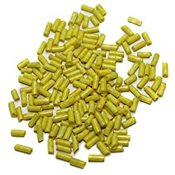 Beadsnfashion Seed Bugles Beads Yellow (100 Gm), Size 11/0